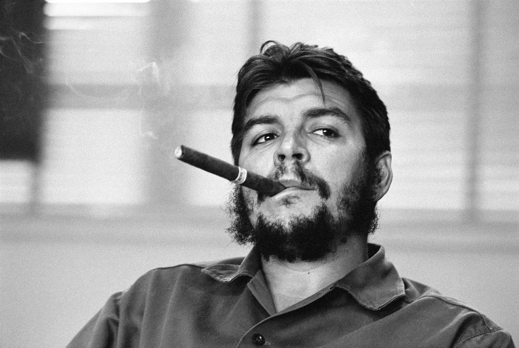 "René Burri . Ernesto ""Che"" Guevara . Havanna, Cuba . January 1963 (Detail) © Magnum Photos"