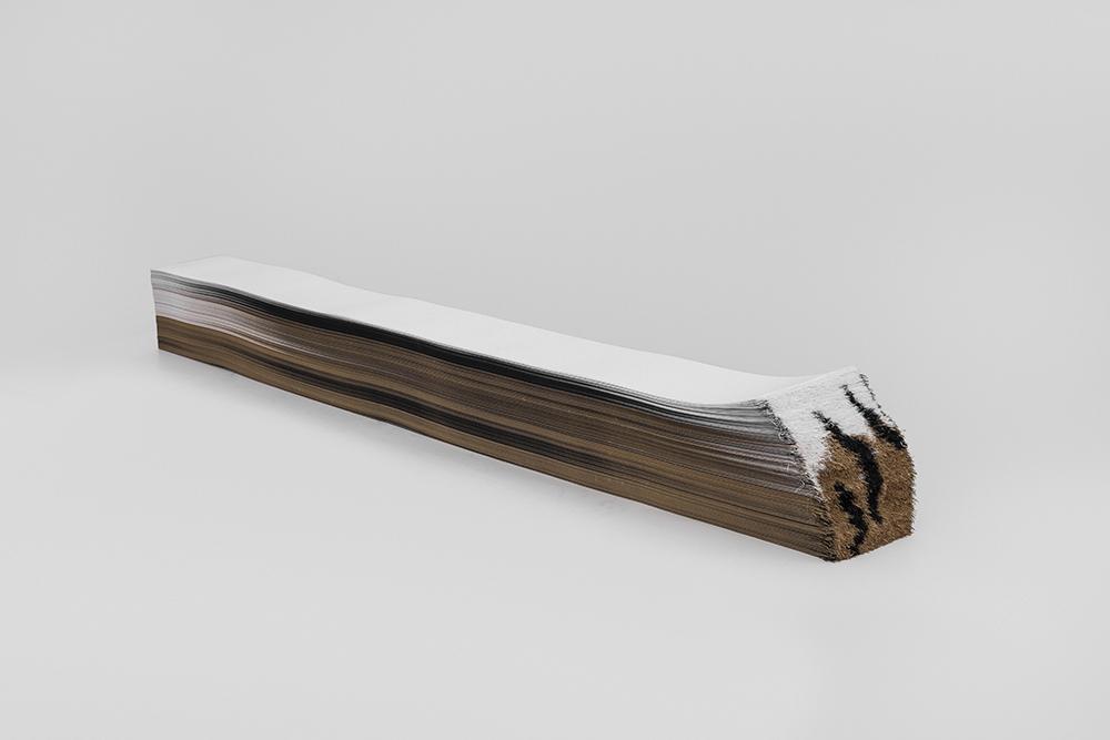 虎变-1(侧) 纸 10cmX14cmX110cm 2015