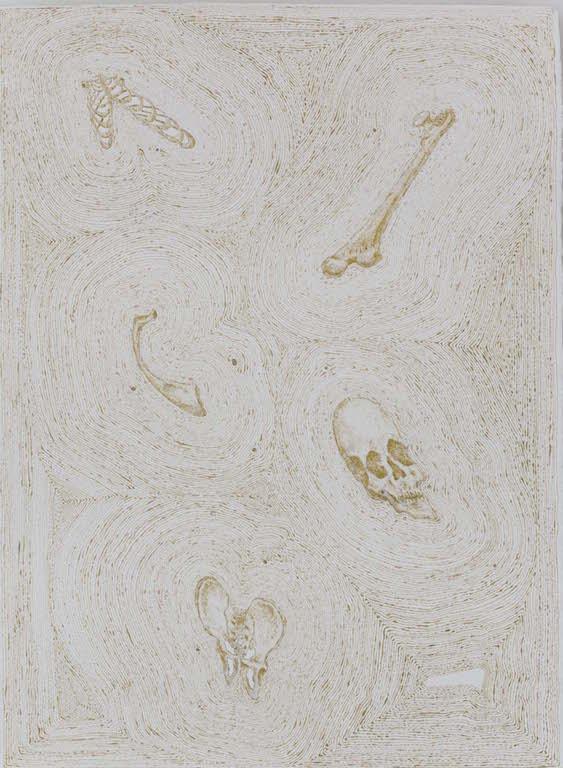 金身-1 纸上绘画 53x76cm 2015